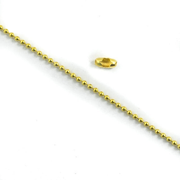 Metal chain 1.2mm ball+10con gld 2mts