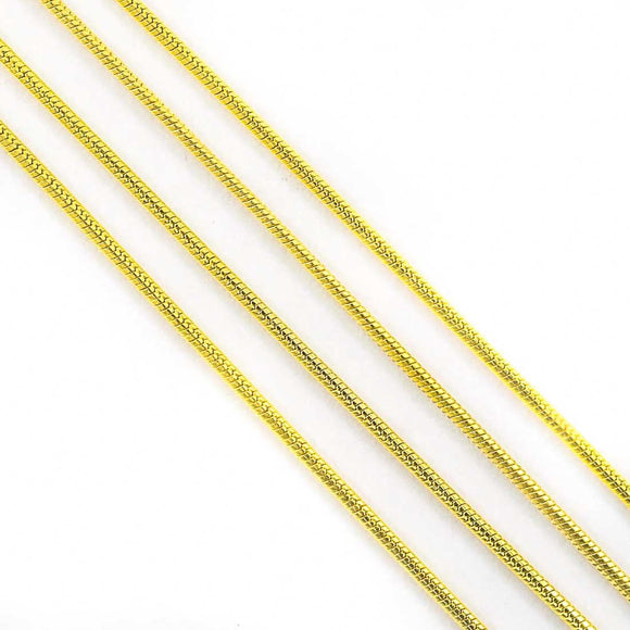 Metal chain 1.5mm snake gld 2mtr