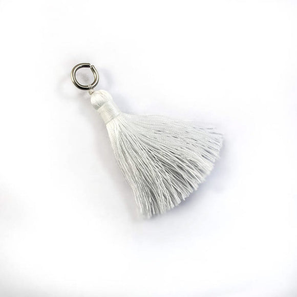 Thread 60mm Tassel white 4pcs