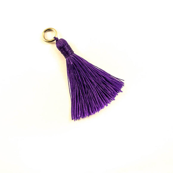 Thread 60mm Tassel purple 4pcs