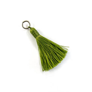Thread 60mm Tassel olive 4 pcs