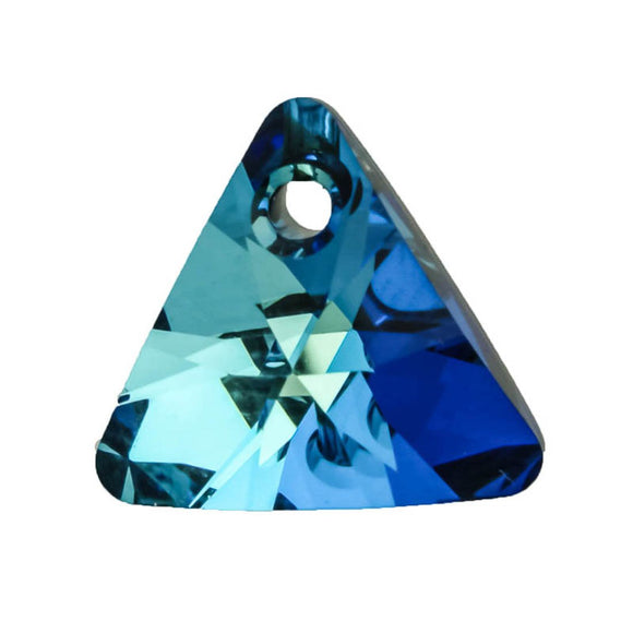 Swarovski 12mm 6628 triangle b blue 2pc