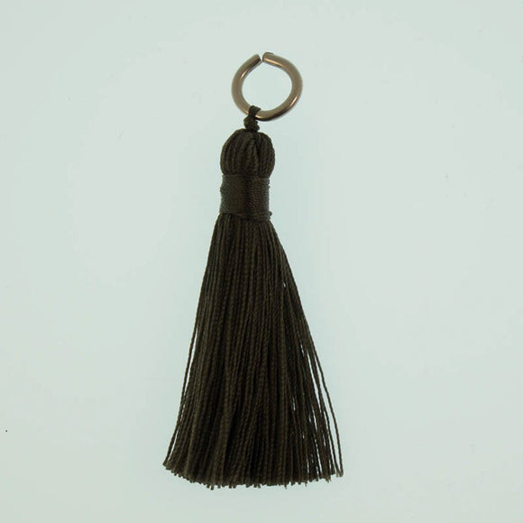 Thread 60mm Tassel pewter 4 pcs