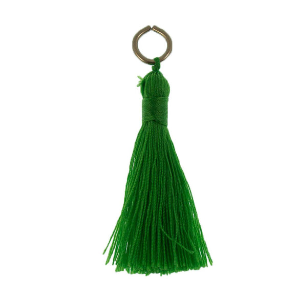 Thread 60mm Tassel Fern Green 4pcs