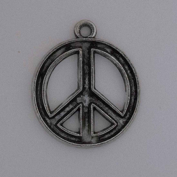 Metal 17mm peace + loop Ant nkl 10pcs
