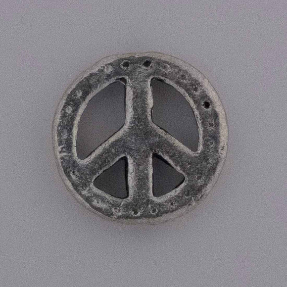 Metal 15mm peace dots Ant nkl 10pcs