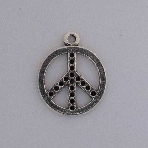 Metal 20mm peace dots Ant nkl 10pcs
