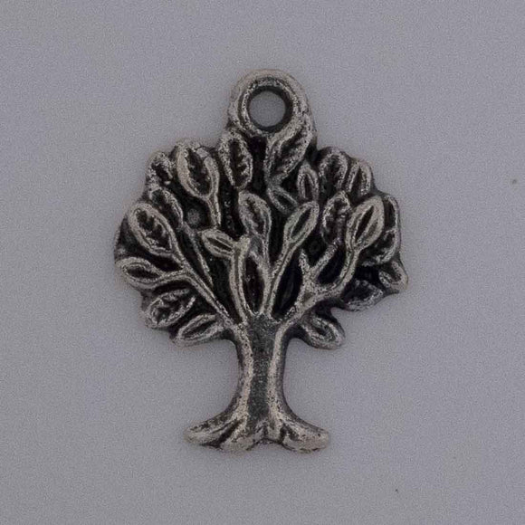Metal 22mm tree of life Ant nkl 10pc