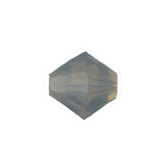Swarovski 8mm 5328 lgt grey opal 8pcs