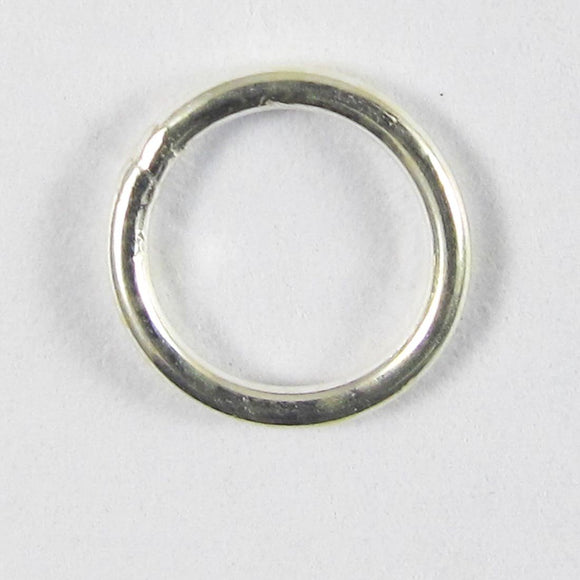 Sterling sil 7mm .8mm SOLDERED jring 10p