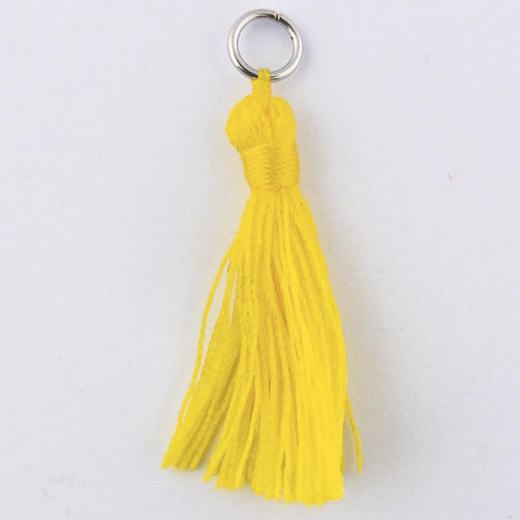 Thread 30mm Tassel yellow 4pcs