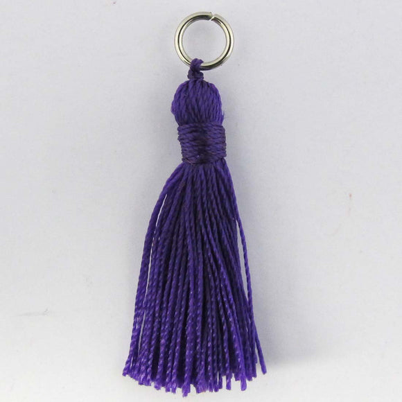 Thread 30mm Tassel purple 4pcs