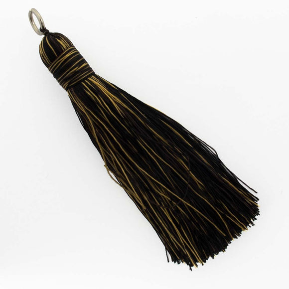 Thread 90mm Tassel blk / gld 2 pcs