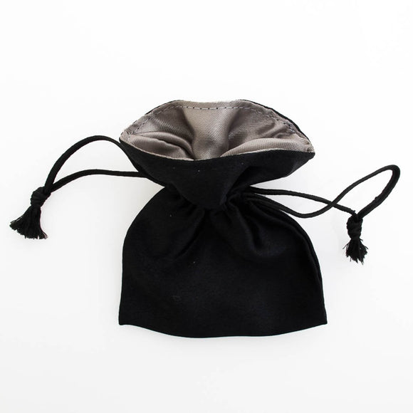 satin 150x120mm bag black/silver 4pcs