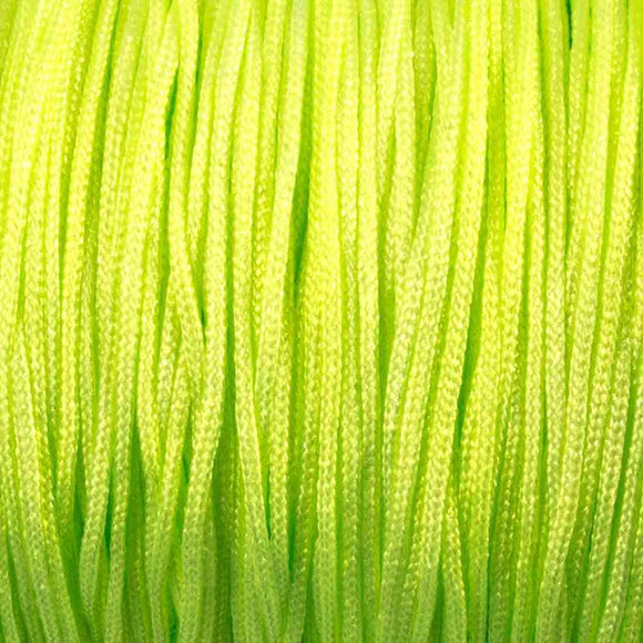 Cord .8mm neon lime 100mtrs