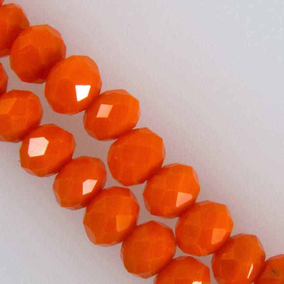 Cg 3x4mm facetd rondel opaq orange 125+