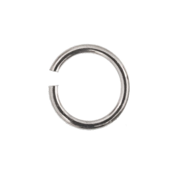 Sterling sil 7x1mm jump ring 6pcs