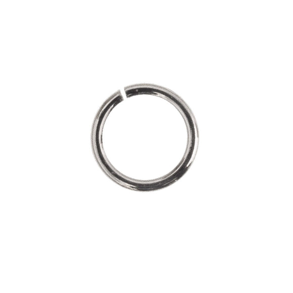 Sterling sil 8mmx1.2mm jump ring 4pcs