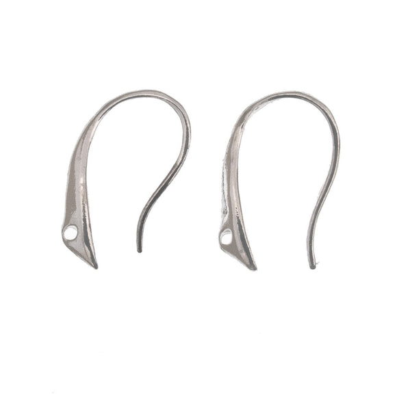 Sterling sil 15mm E/R hook no loop 2pc