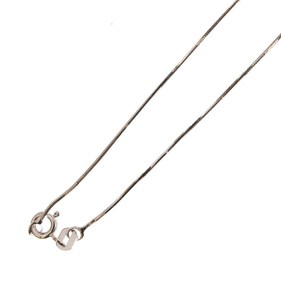 Sterling sil 0.8mm snake chain N/L 40cm
