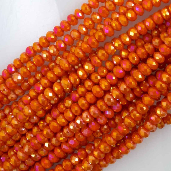 Cg 3x4mm faceted Tangerine AB 130p