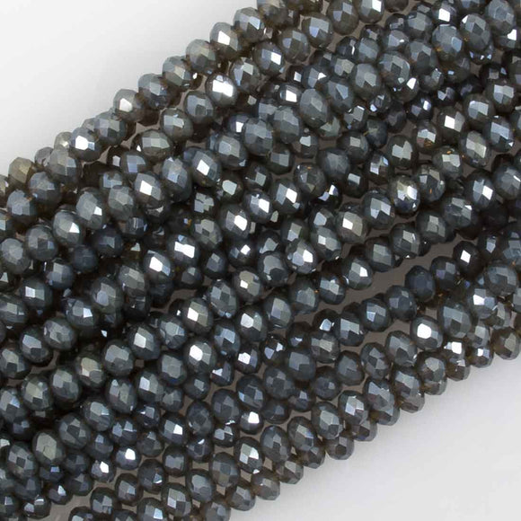 Cg 3x4mm faceted Pewter AB 130p
