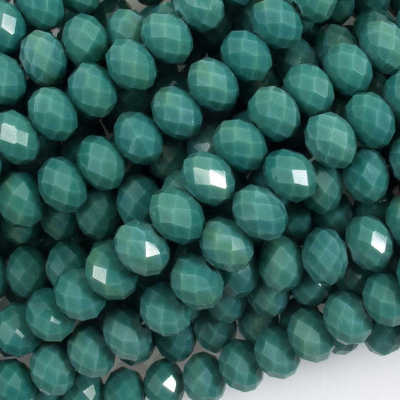 Cg 6x8mm rondel faceted Moss 66p