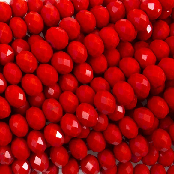 Cg 6x8mm rondel faceted Red 66p