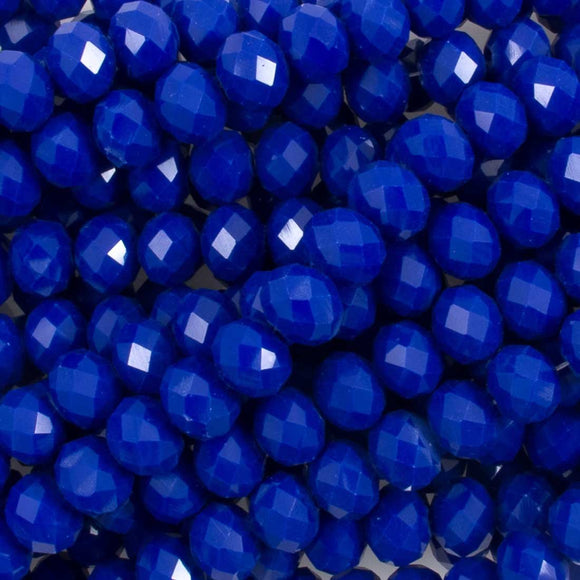 Cg 6x8mm rondel faceted Royal 66p