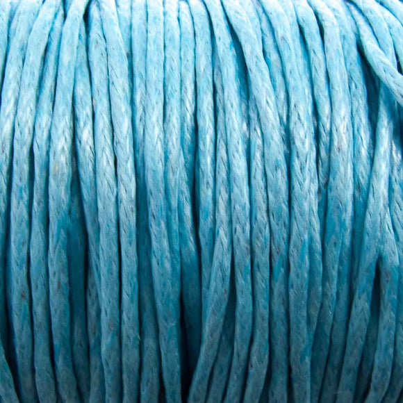 Cord 1mm rnd aqua 10mts