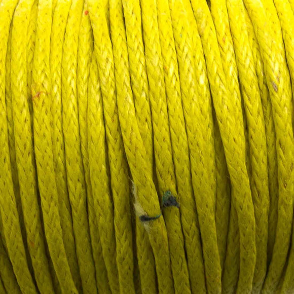 Cord 1mm rnd yellow 10mts