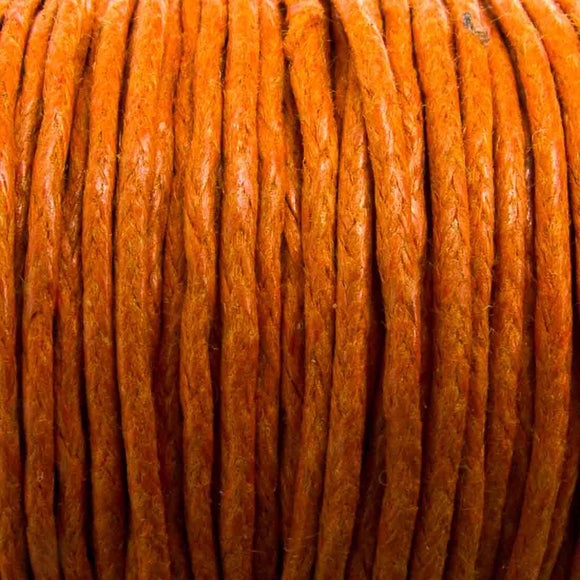 Cord 1mm rnd orange 10mts