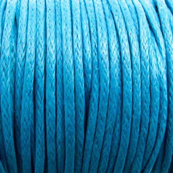 Cord 1mm rnd sky blue 10mts