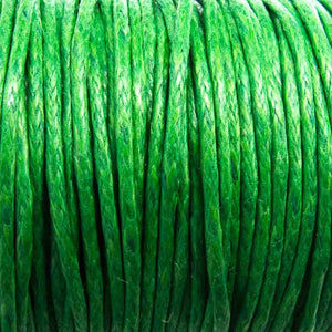 Cord 1mm rnd green 10mts