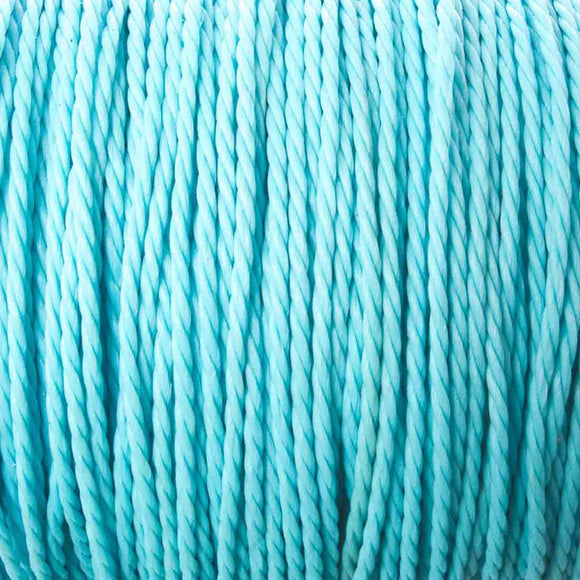 Cord 1mm twisted aqua 30mtrs