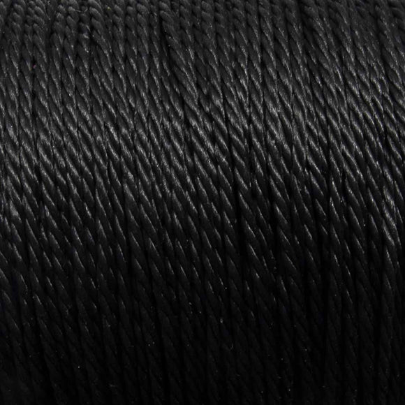 Cord 1mm twisted black 30mtrs