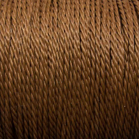 Cord 1mm twisted cinamon 30mtrs