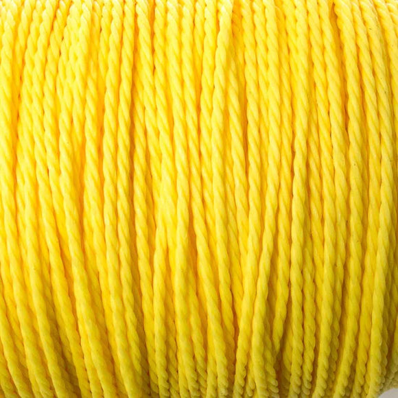 Cord 1mm twisted yellow 30mtrs