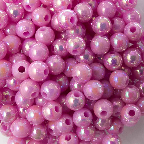 Plas 4mm rnd liliac AB 20g/700pcs
