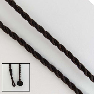 Cord 2mm twisted necklace 47cm choco 2pc