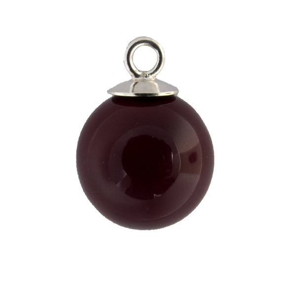 Semi prec 12mm shell drop garnet 2pcs