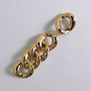 PLas 20x15mm chain links curb gold 20pcs