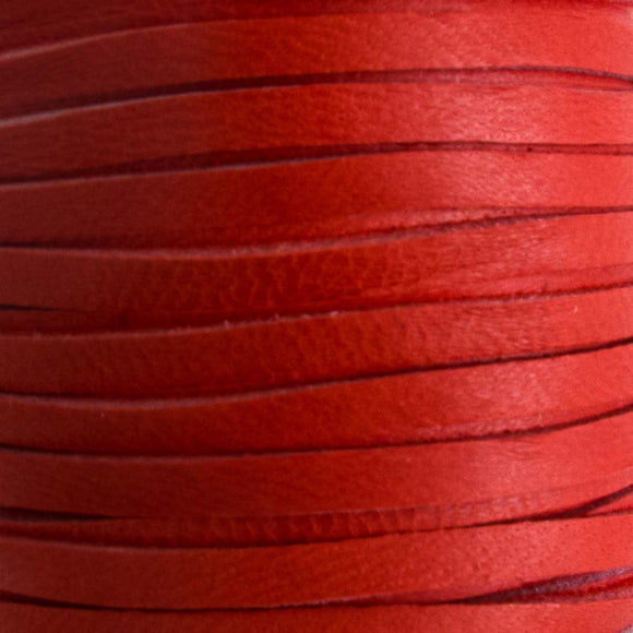 Deerskin 3mm lace red 15metre