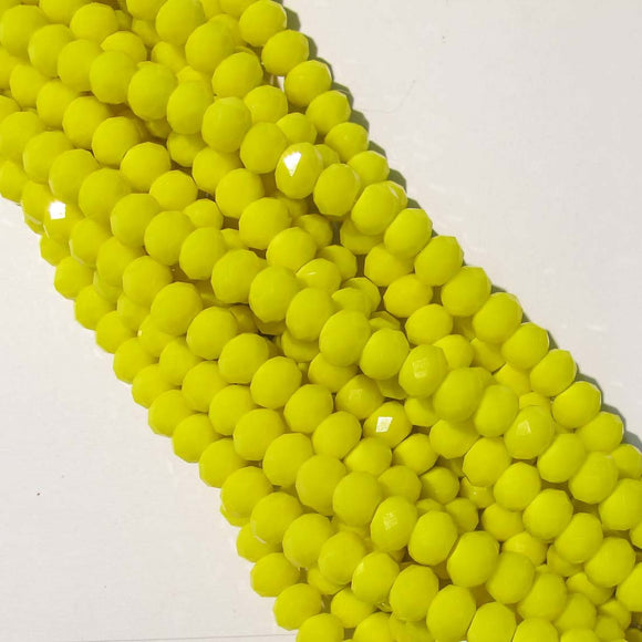 Cg 4.5x6mm faceted rondel yellow 90pcs