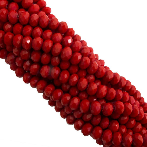Cg 4.5x6mm faceted rondel red 90pcs