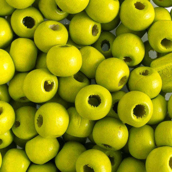 Wood 8mm rnd lime 20g/130pcs