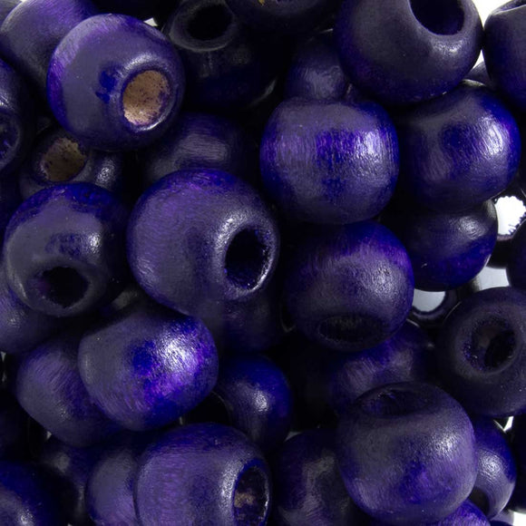 Wood 10mm rnd deep purple 30g/102p