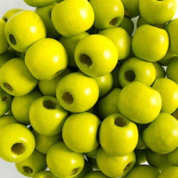 Wood 12mm rnd lime 40g/75pcs