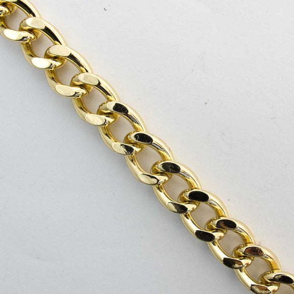 Metal chain 15x10mm curblink gold 1m