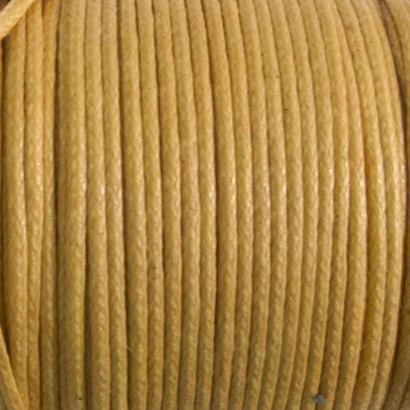 cord .77mm waxed cotton natural 25 mtrs